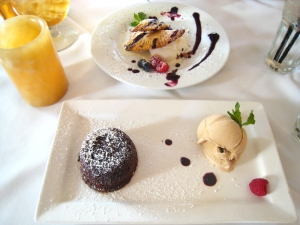 Incredible desserts at Bouchon SB