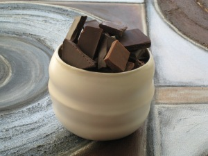chocolate in a modern cup