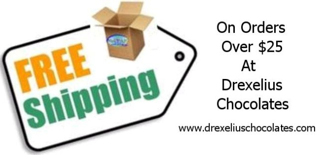 free shipping at Drexelius Chocolates